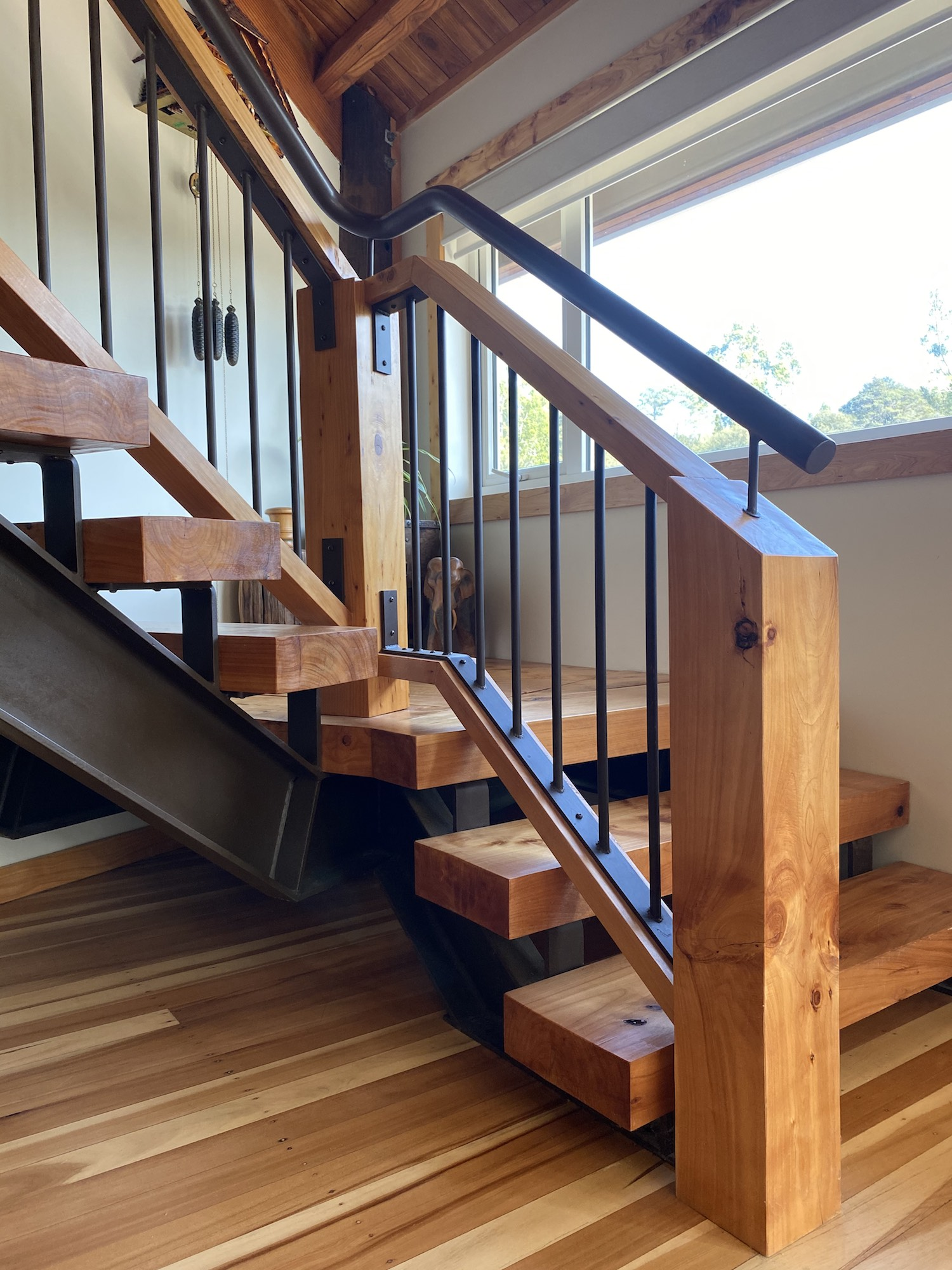 Detailed metalwork used on this stair design in Auckland