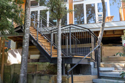 Exterior steel staircase in Auckland