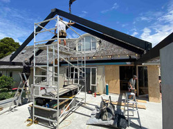 Structural steel used for roof and foundation of home in Auckland