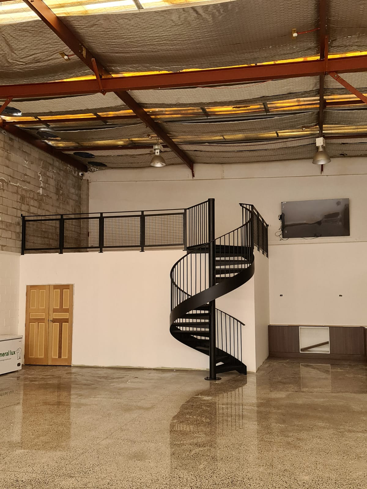 Metal handrail for stairs