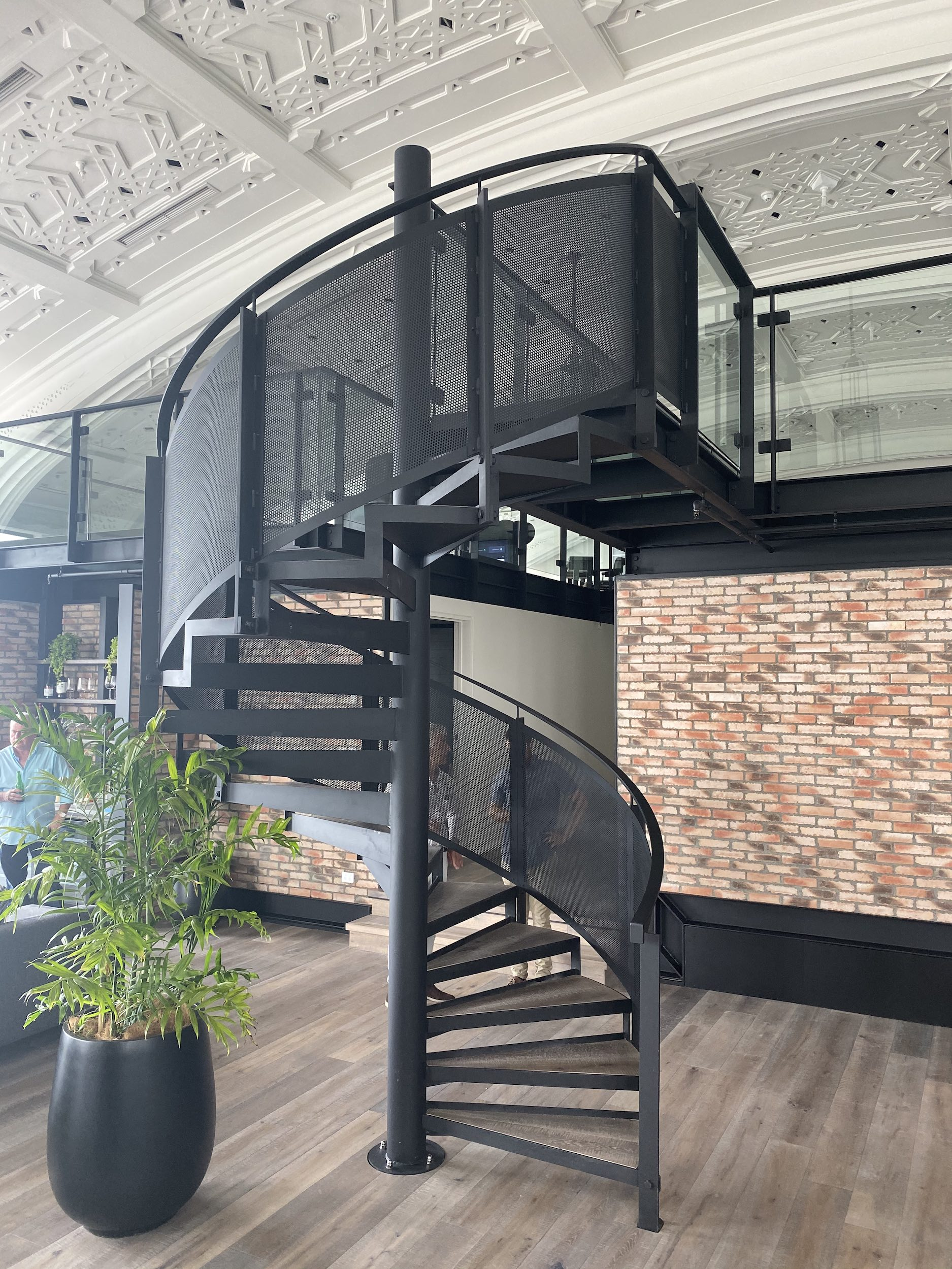 Bespoke steel spiral staircase by Stairworks for luxury apartment in Auckland