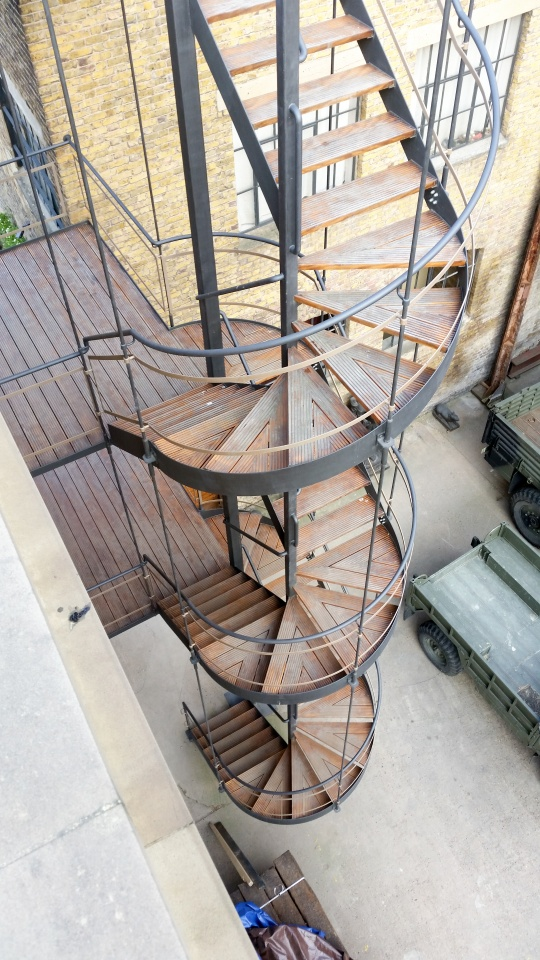 Bespoke stair design by Stairworks for exterior spiral staircase in Auckland