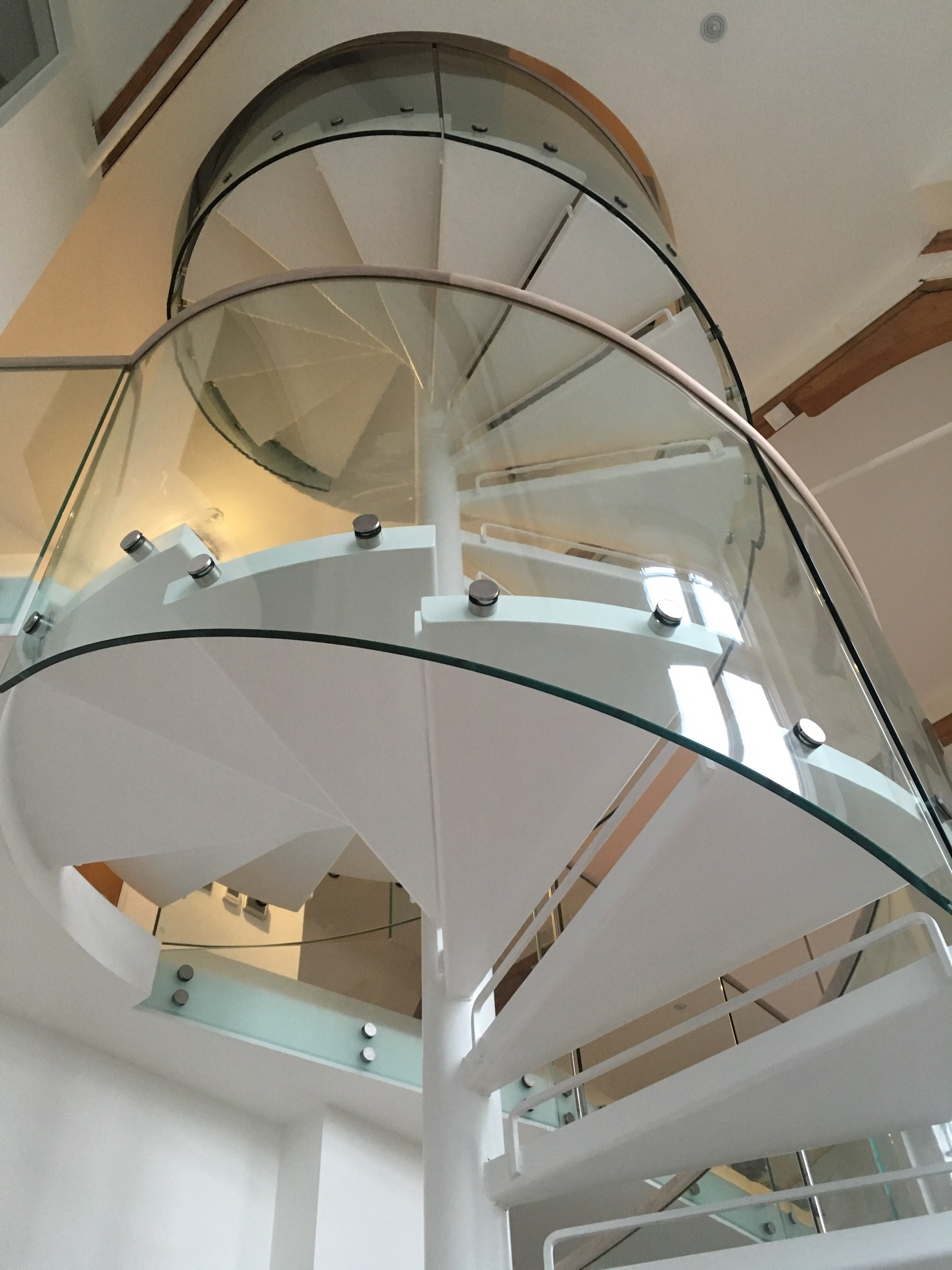 This Auckland spiral staircase is a minimalistic design