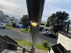 LED light insert in exterior handrail