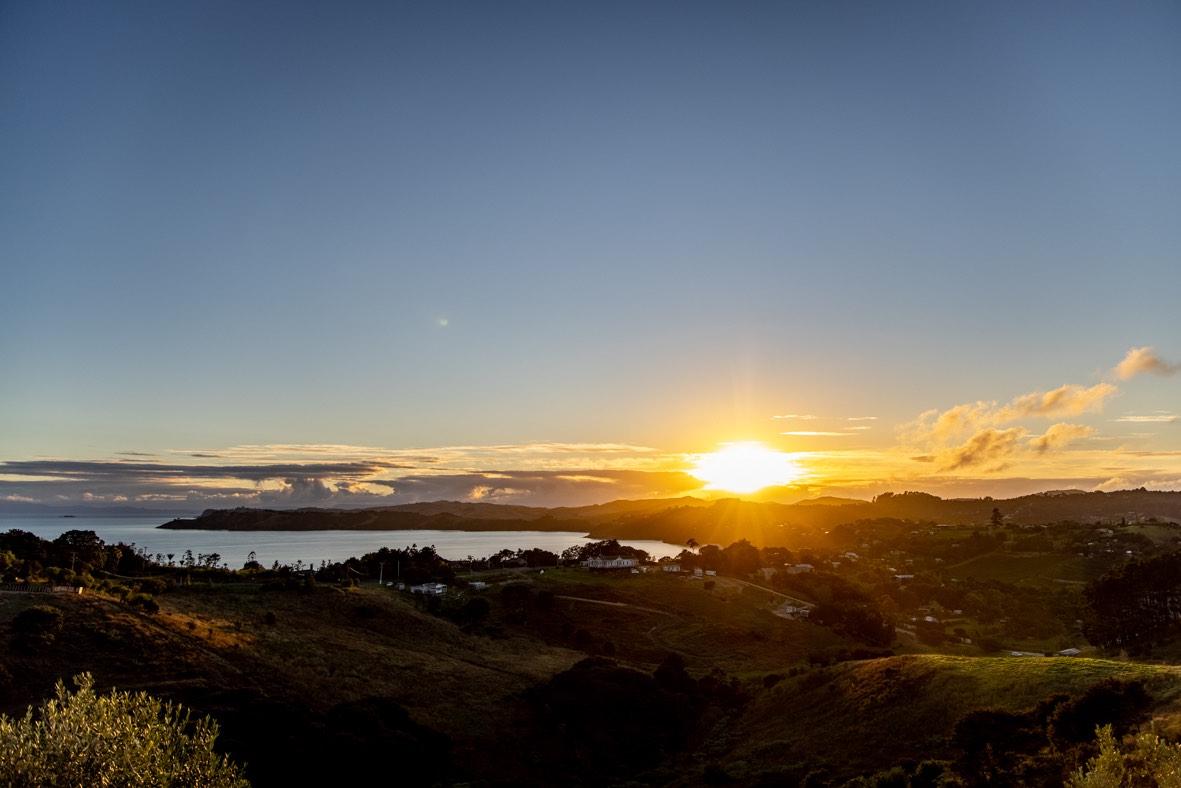 View from tiny home on Waiheke Island