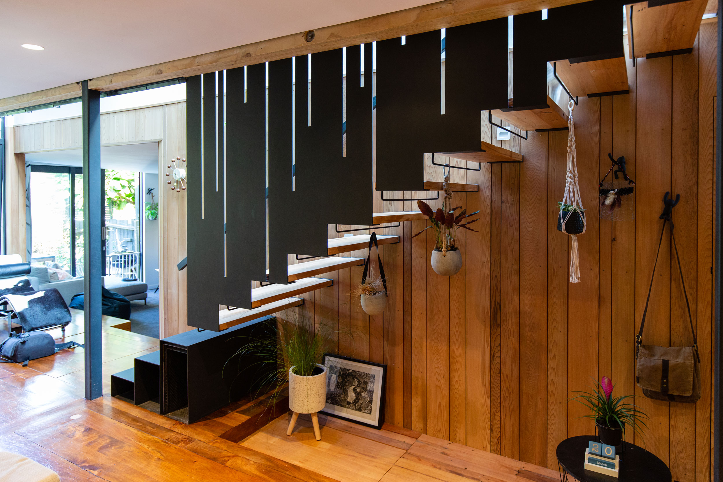 Architectural floating staircase in Auckland built by Stairworks