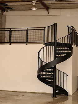 Metal handrail and balustrade for industrial staircase in NZ