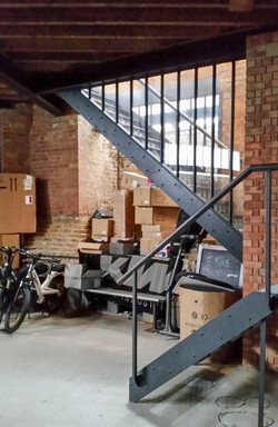 U shaped steel stairs designed by Stairworks in Auckland