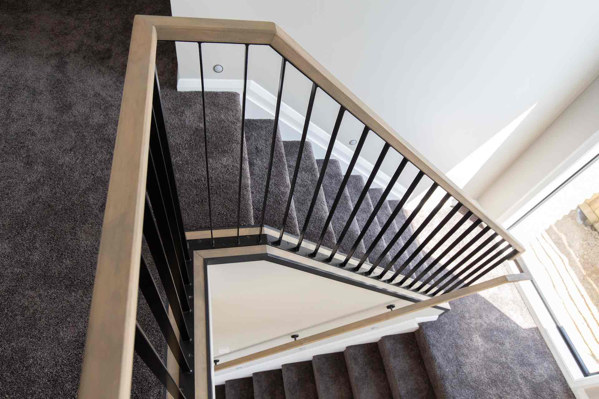 Steel balustrade replacement upgraded these Auckland stairs.