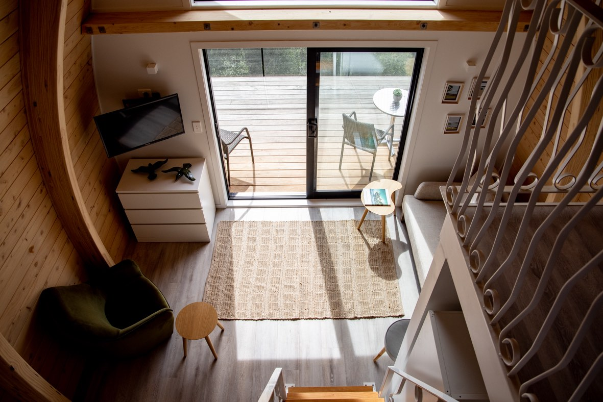 Tiny home staircase passes consent near Auckland, New Zealand