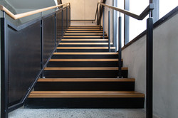 U shaped steel stairs built by Stairworks in Auckland
