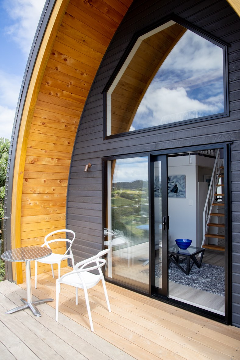 Tiny home with custom metalwork by Stairworks in New Zealand