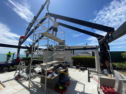 Structural metal work for a beach home in Auckland