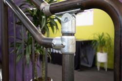 Metalwork on steel handrail by Stairworks