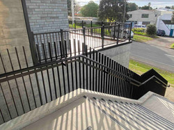 Metal balustrade on exterior staircase in Auckland