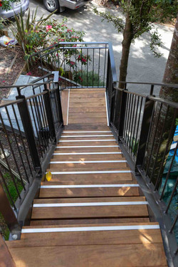 Timber treads are a beautiful option for your outdoor staircase
