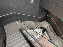 Quality staircase made of tiles and metal in Auckland