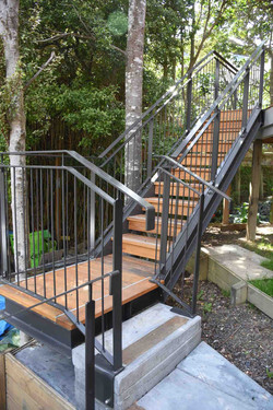Home renovation was complete with an outdoor steel staircase