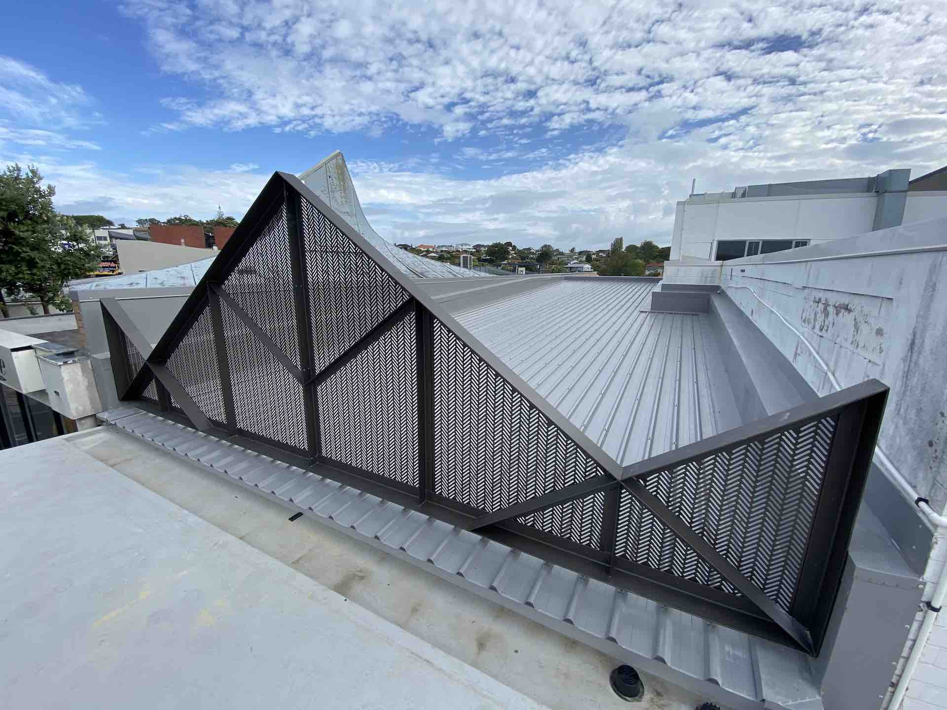 Metal roof truss for architectural company in Auckland