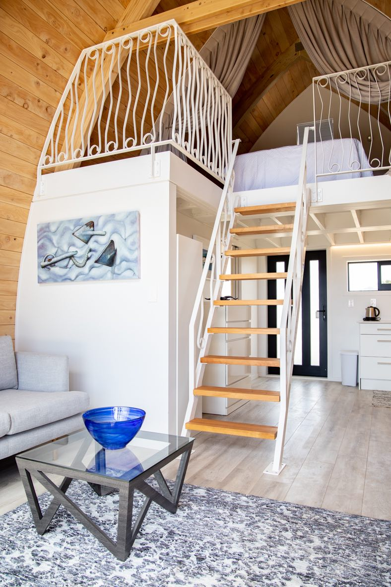 Metal balustrade hand crafted by Stairworks for tiny home in New Zealand