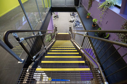 Steel manufacturing business Stairworks built this metal staircase in Auckland