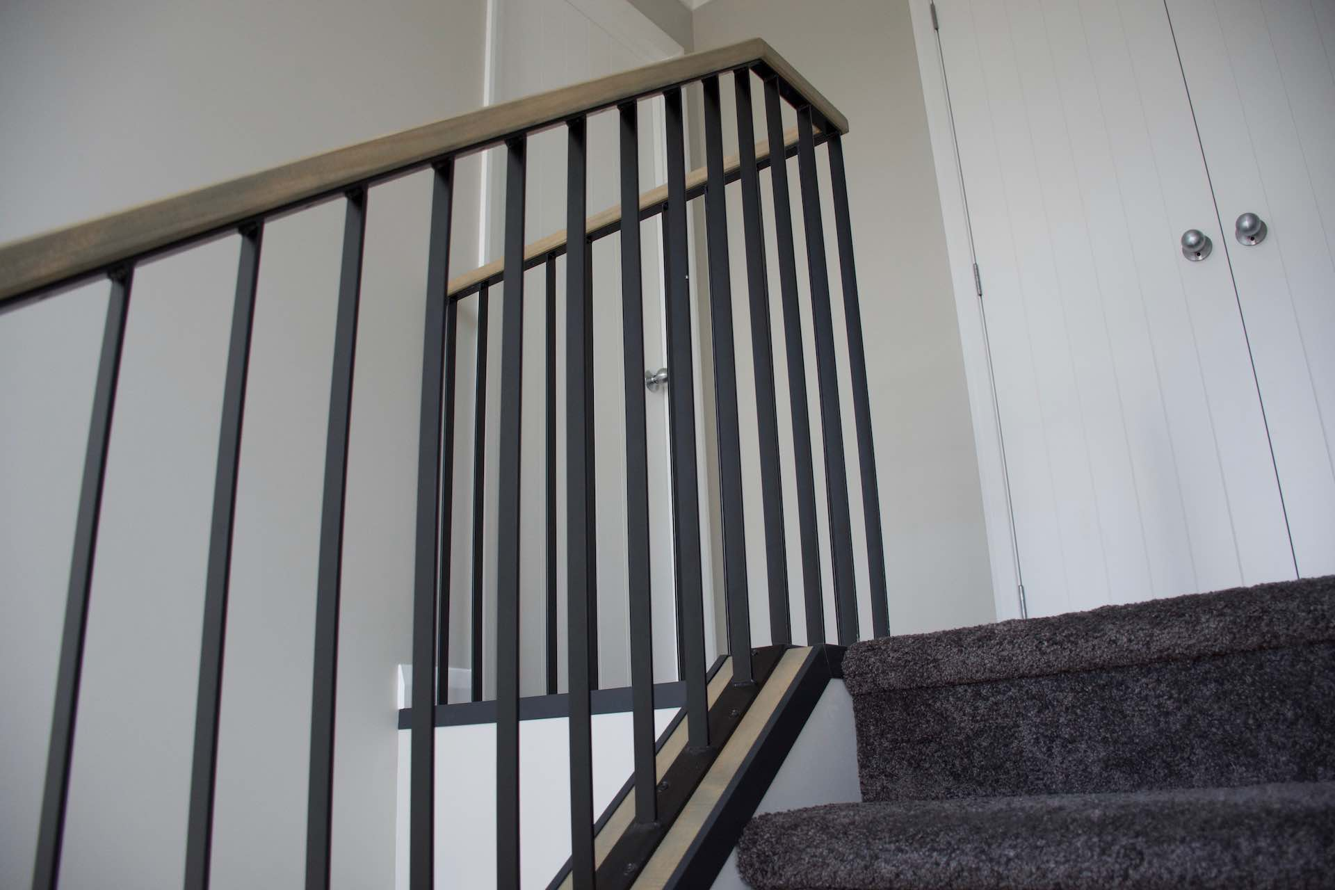 Steel balustrade in New Zealand built by Stairworks.