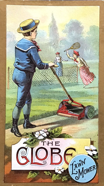 Lawn Mower Trade Card - 1888