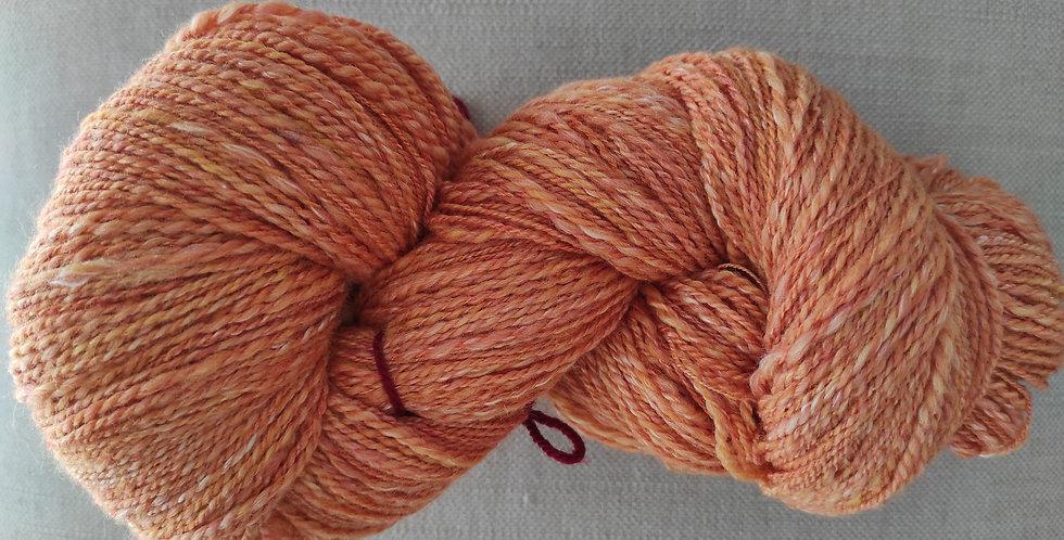 Alpaka / Merino / Seide orange/apricot