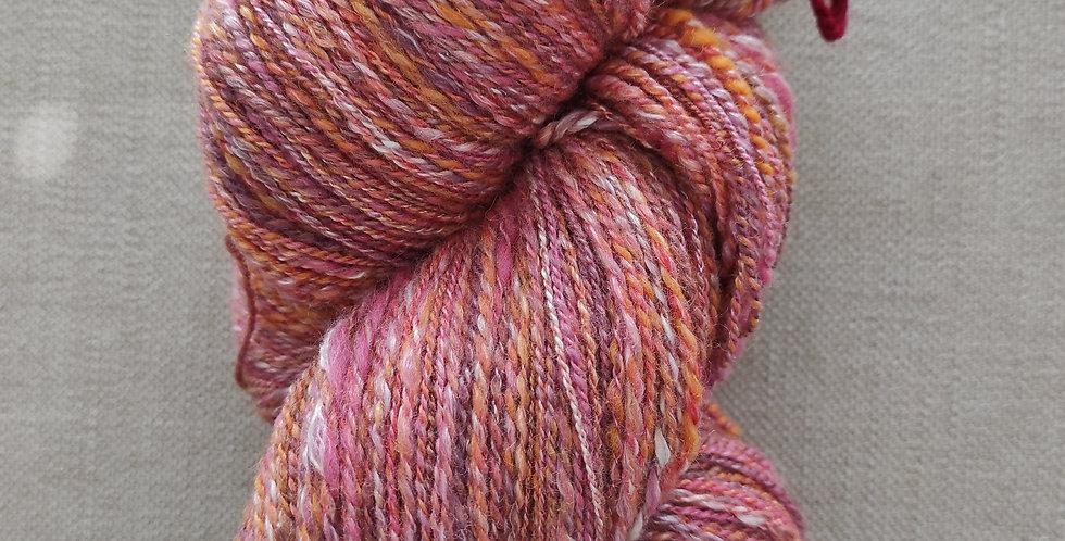 Alpaka / Merino / Seide pink/orange