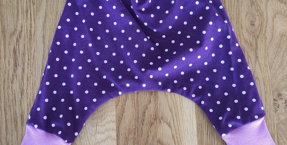 Pumphose Tüpfli Violett