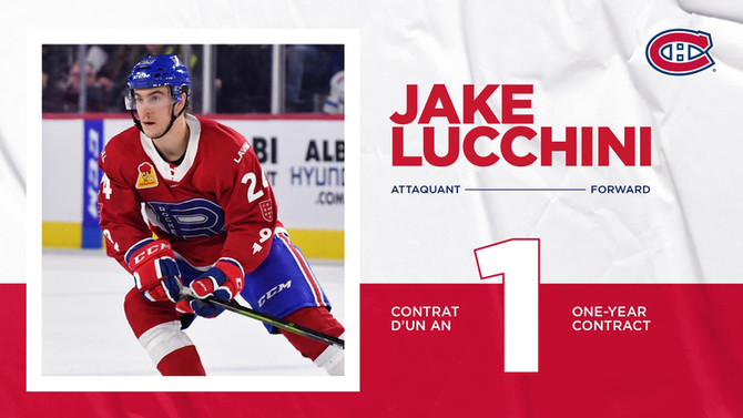 Canadiens Agree to Terms on a One-Year Contract With Jake Lucchini