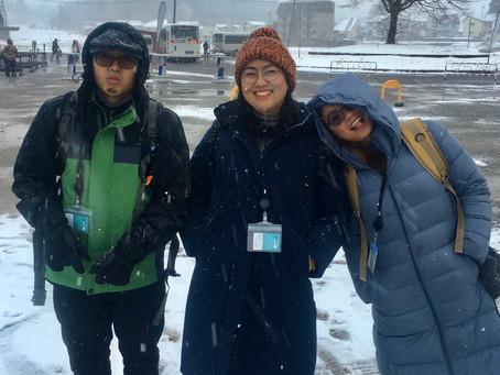Foreign employees to Hakuba S-Class VIP lounge!!        雪のない国フィリピンから長野白馬へ!!