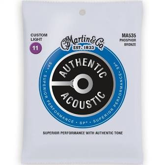 Martin Guitar Strings - Custom Light  Phosphor  Bronze MA535