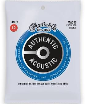 Martin Guitar Strings - Light  Phosphor  Bronze MA540