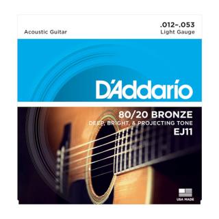 Daddario Guitar Strings 80/20 Bronze EJ11