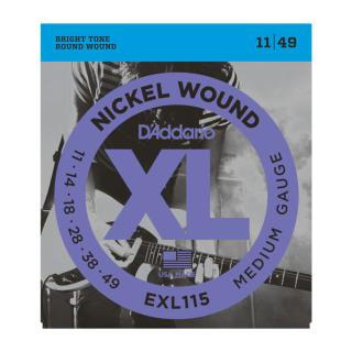 Daddario Electric Guitar Strings Nickel Wound 11 - 49