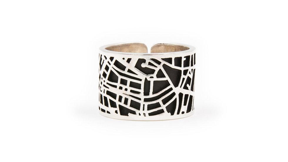 Amsterdam in un anello, interamente fatto a mano