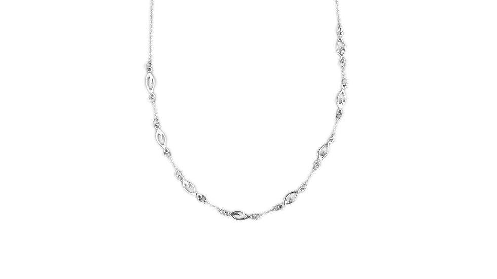 Collana d'argento, foglia