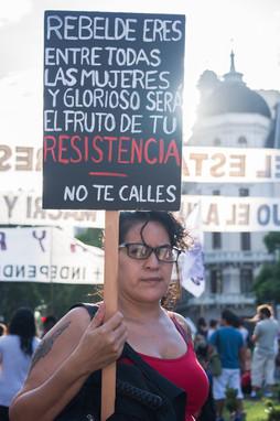 Plaza de Mayo, Buenos Aires, Argentina, March 8, 2017.