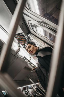 Subway train, New York City, October 24, 2019.