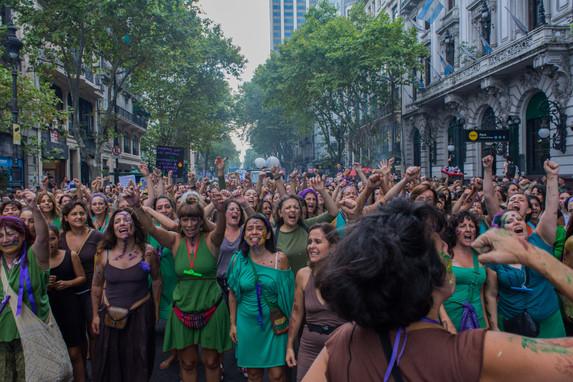 Avenida de Mayo, Buenos Aires, Argentina, March 8, 2017.