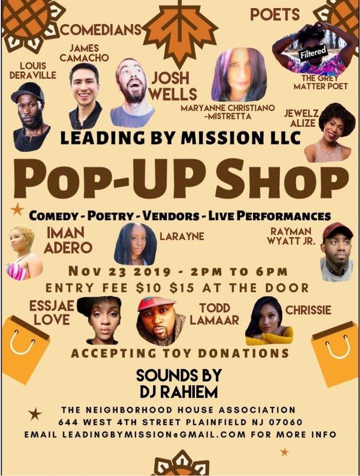 Pop Up Shop November 23 2 PM - 6 PM Saturday
