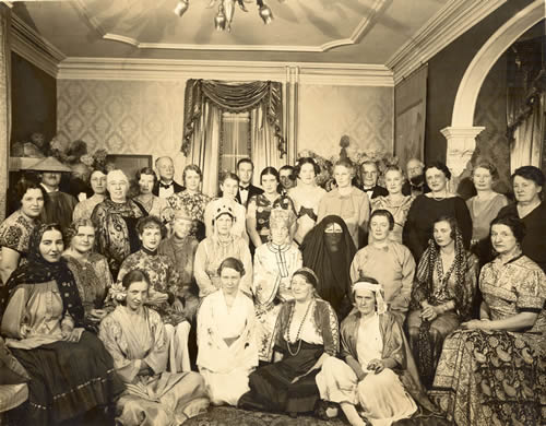 Plainfield Musical Club meeting, photograph taken by Howard Rowe, circa 1930s