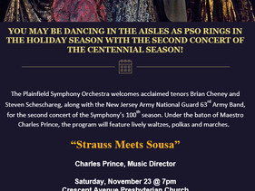 Strauss Meets Sousa November 23 Concert and After Party TONIGHT !