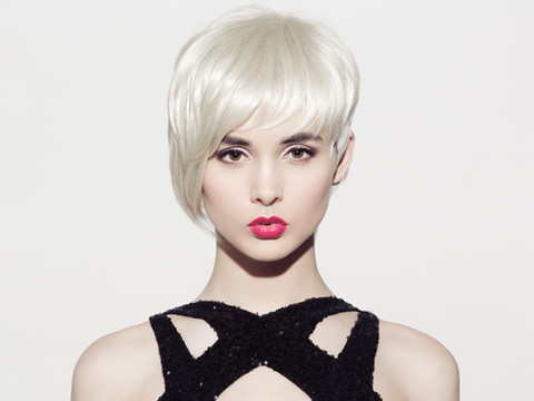 Close-up portrait of beautiful model wit