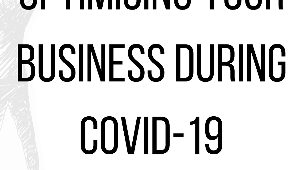 Optimising your business during  Covid-19 - Online Course