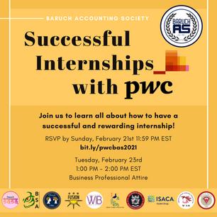 Successful Internships with PwC