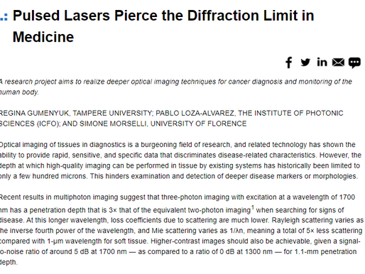 Amplitude article published in BioPhotonics