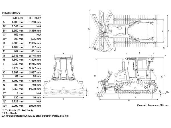 Dozer Komatsu D51EX-22