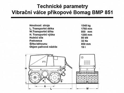 Výkopový válec BOMAG BMP 851
